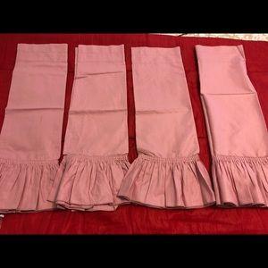 Other - 4 pcs pink valance